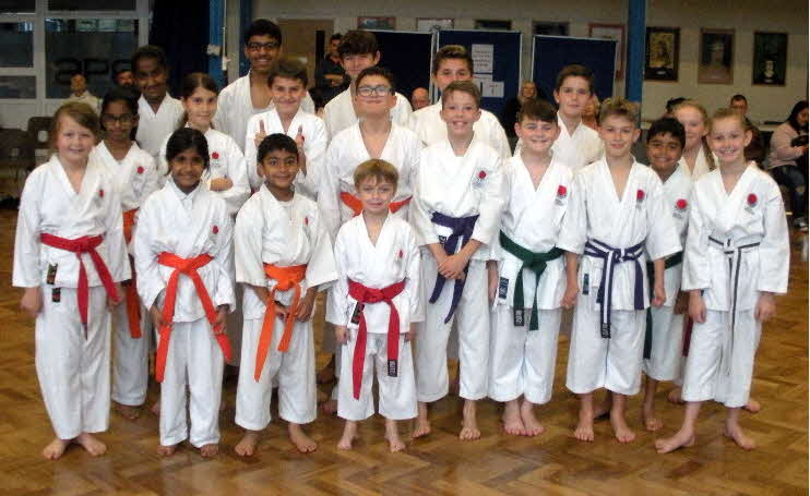 Photo 1- Junior & Novice competitors.